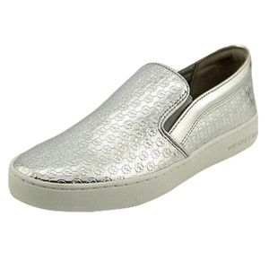 Michael Kors BRECK Metallic Embossed Leather Slip